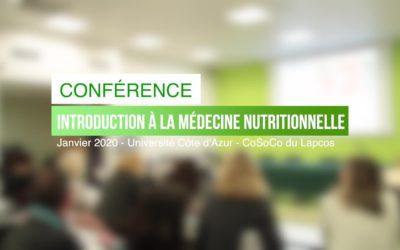 La médecine nutritionnelle